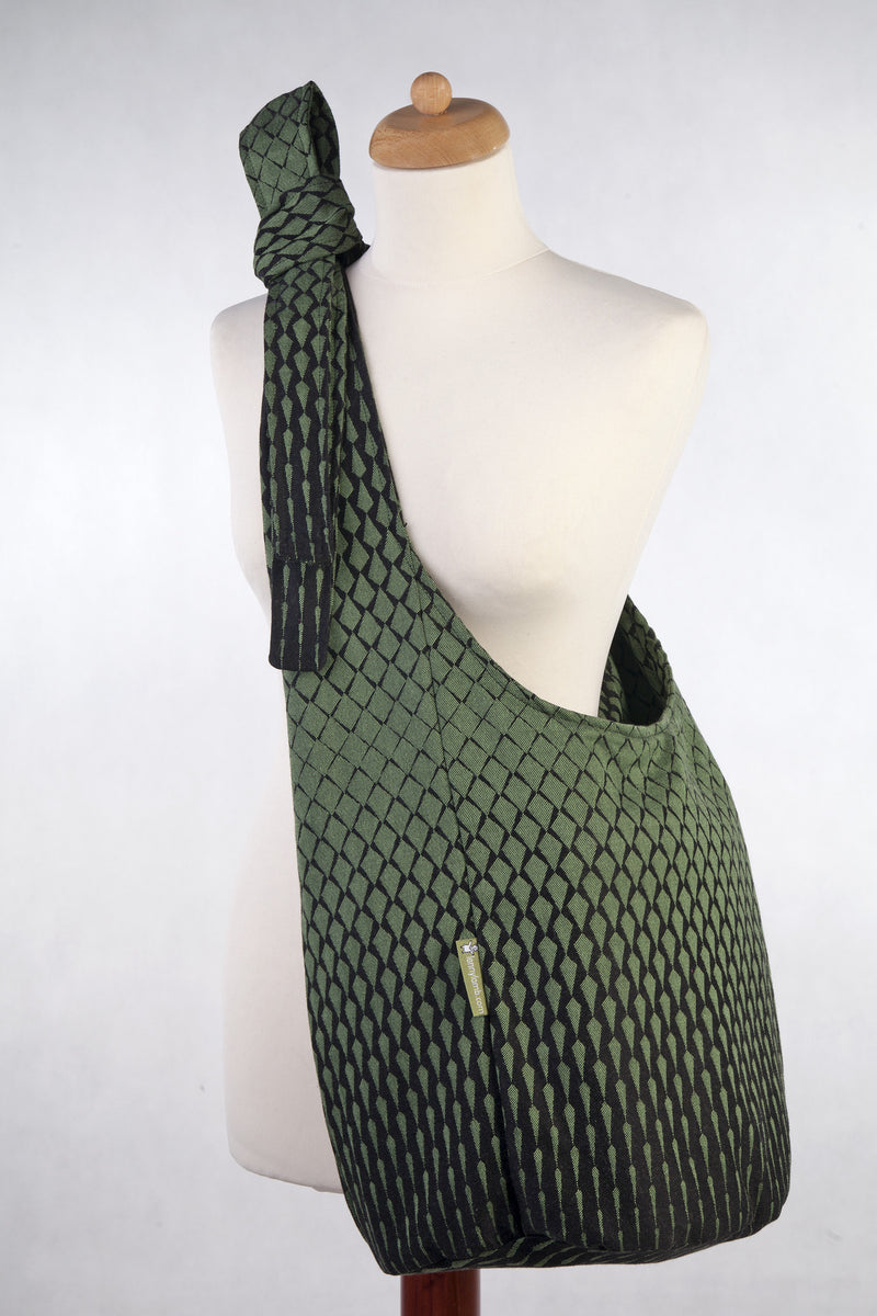 Lenny Lamb Icicles Green and Black Hobo Bag