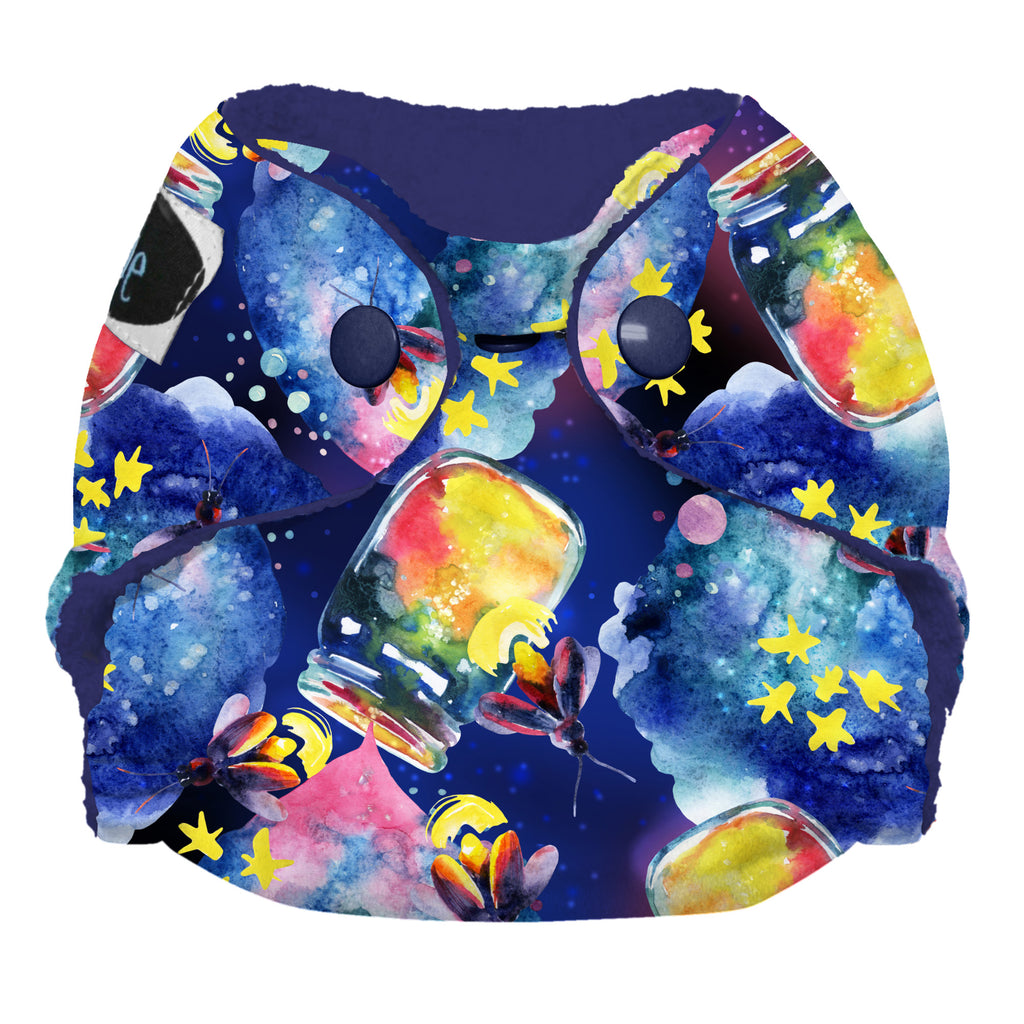 Imagine Newborn Stay-Dry All-in-One Cloth Diapers Backyard Adventure Firefly Fireflies