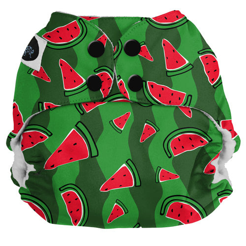 Imagine Pocket Cloth Diapers Watermelon Patch snap