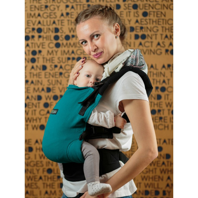145855e79d1 ... Isara V3 Peacoquette Half Wrap Conversion Soft Structured Carrier full  buckle babywearing ssc