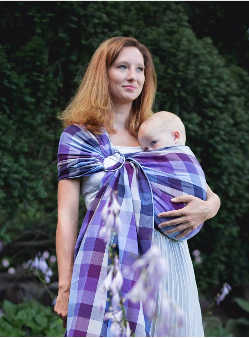 Luna Dreams Lavender Evening Grid Ring Sling