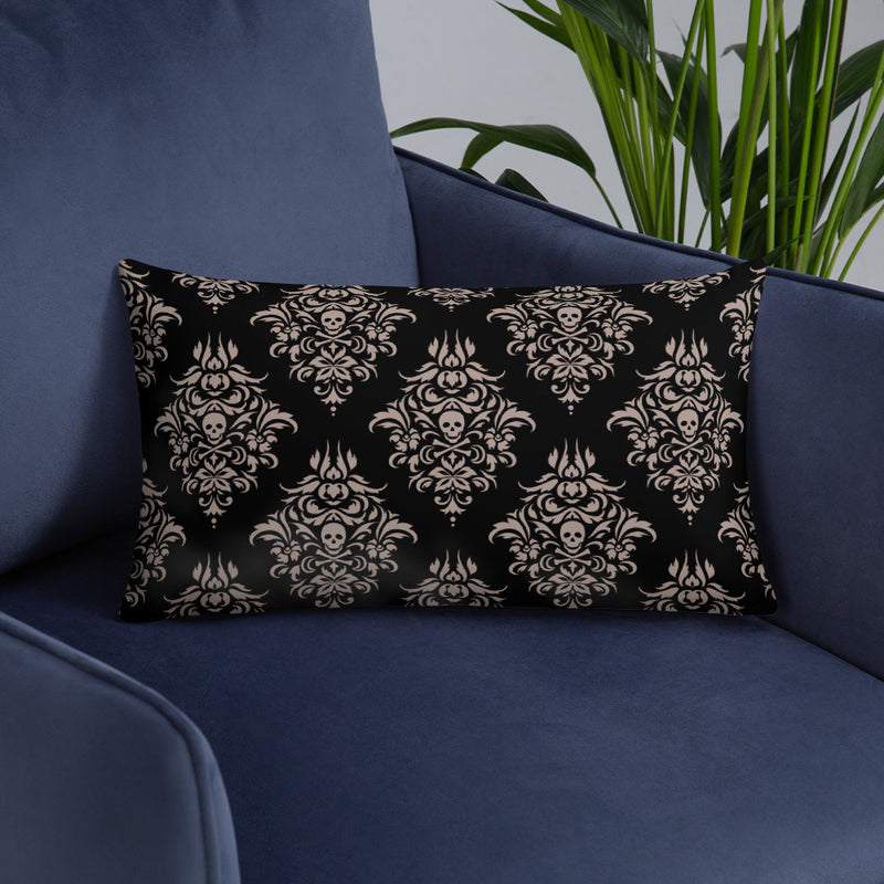 Queen Anne's Revenge Beige and Black Throw Pillow