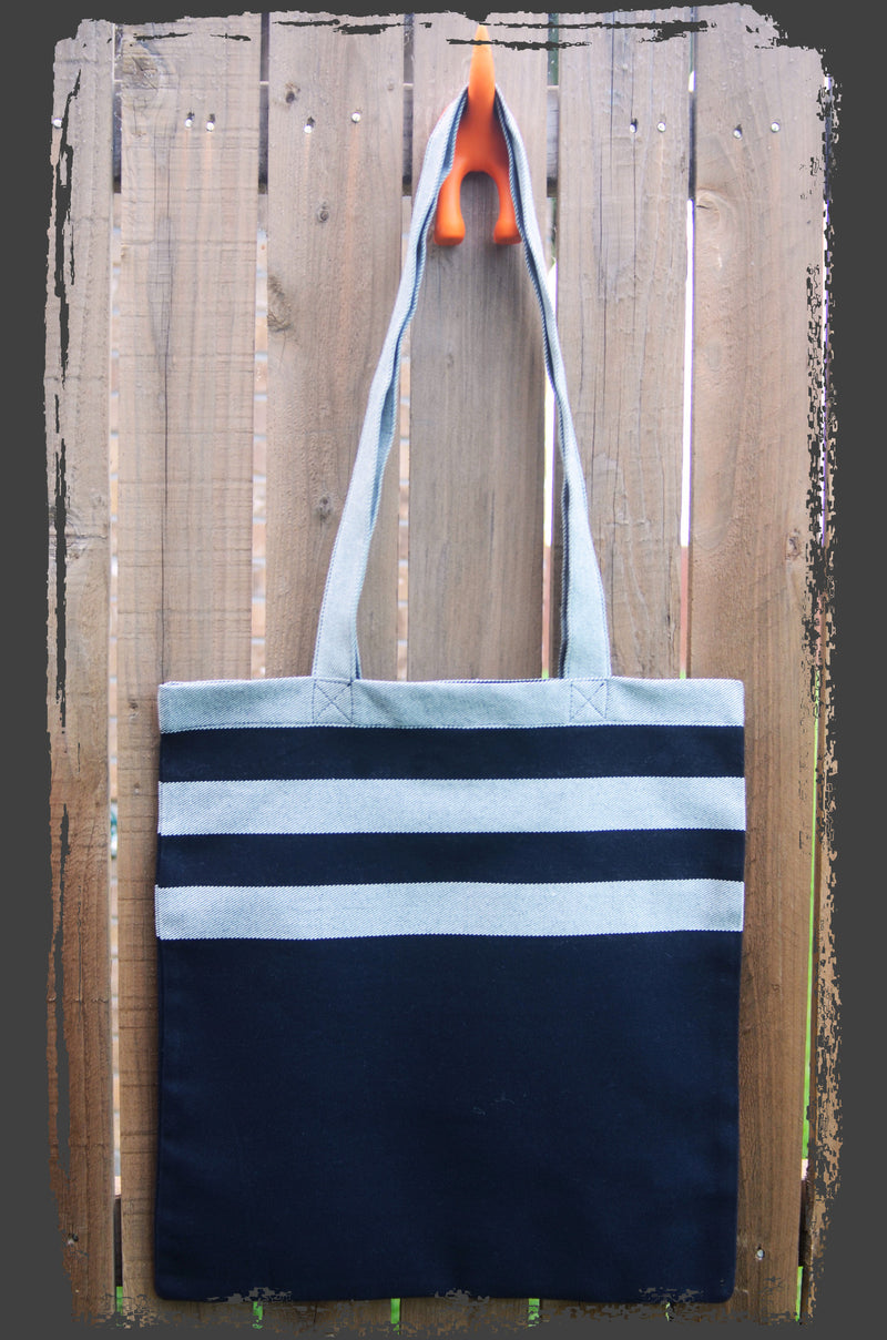 Smitten with Wovens Mod Stripes - Classic TOTE BAG Made in America