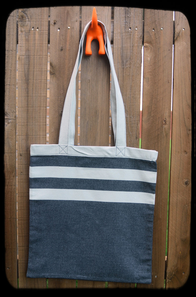 Smitten with Wovens Mod Stripes - Muted TOTE BAG Made in America