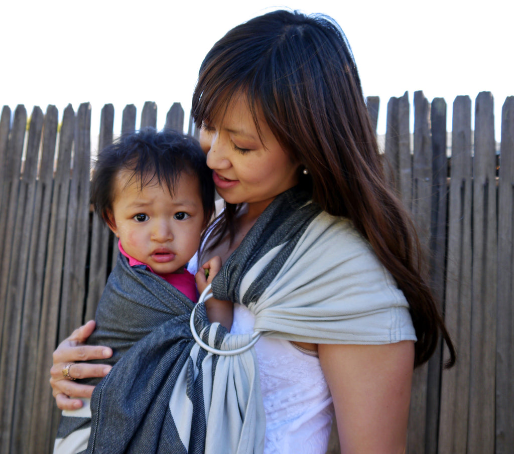 Smitten with Wovens Mod Stripes - Muted Ring Sling cotton
