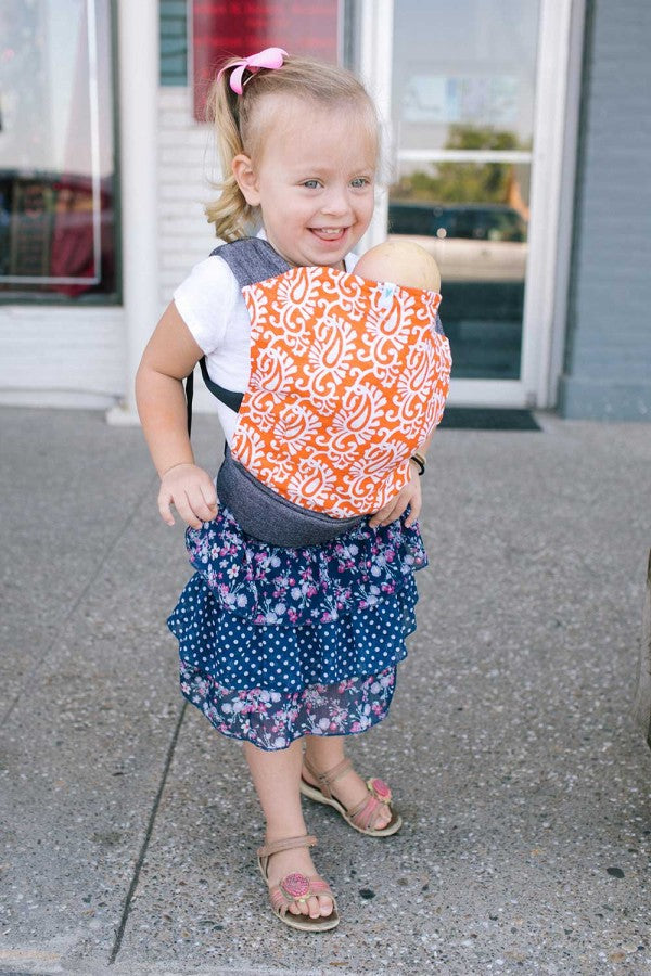 Soul Slings Orange Pop Buckle Doll Carrier