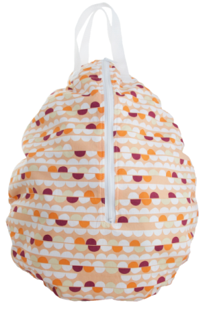 Smart Bottoms Hanging Wet Bag Peach SCallops made in america