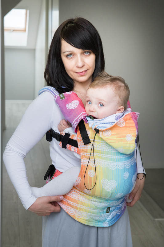 Lenny Lamb Ergonomic Full Buckle Carrier Rainbow Lace (cotton)