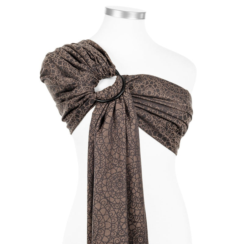 Fidella Mosaic Mocha Brown Ring Sling (organic cotton) - IN TRANSIT