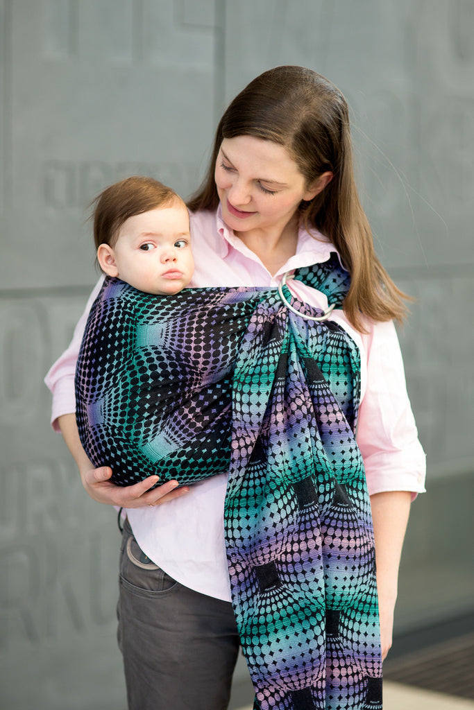 Lenny Lamb Disco Balls (cotton) Ring Sling