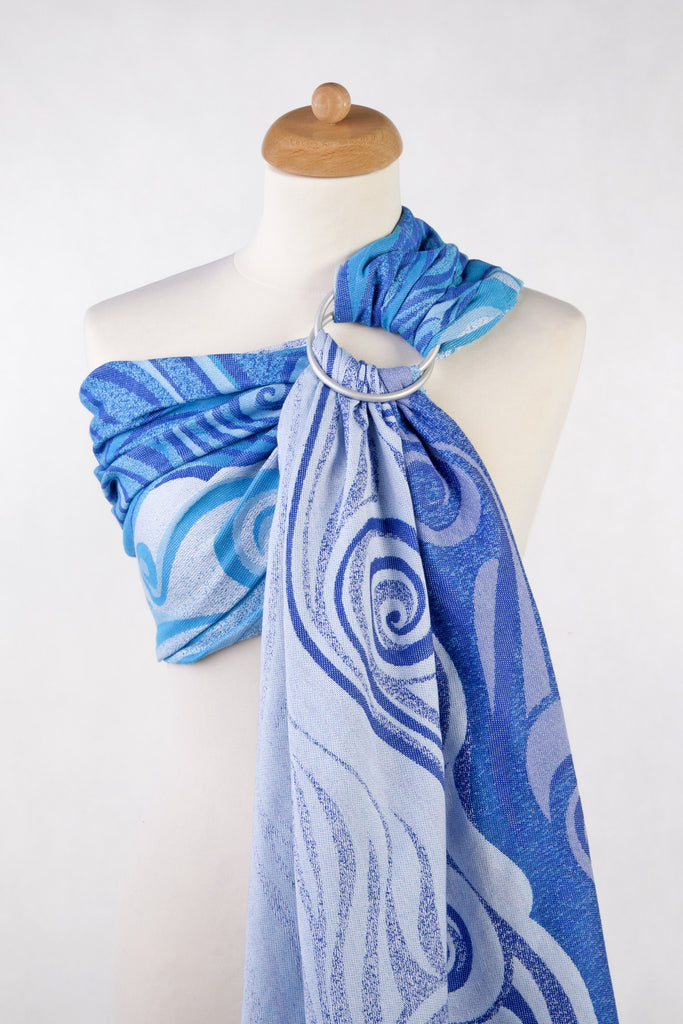 Lenny Lamb Blue Waves (cotton) Ring Sling