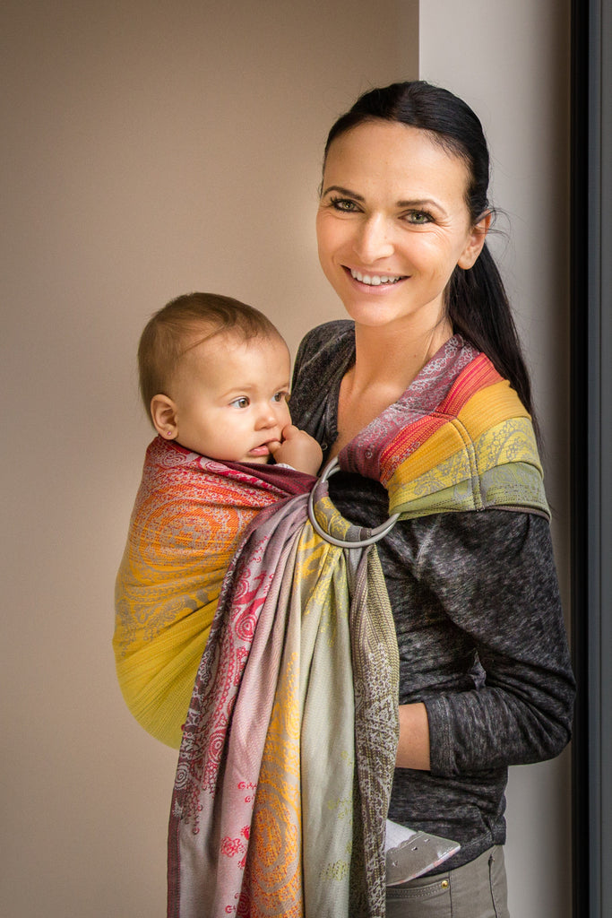 Lenny Lamb Royal Indian Peacock (cotton) Ring Sling