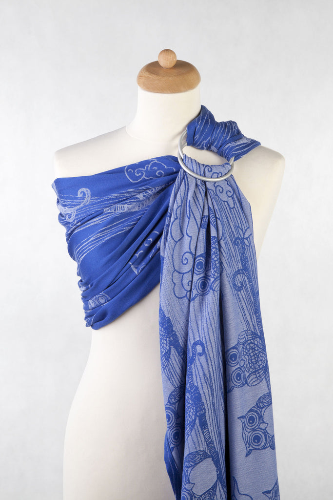 Lenny Lamb Owls Blue and White Ring Sling (cotton)
