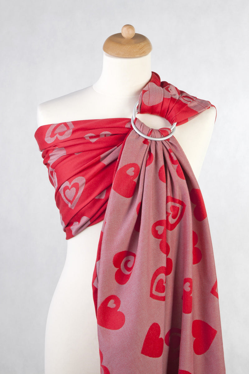 Lenny Lamb Sweetheart RED GRAY Ring Sling (cotton)