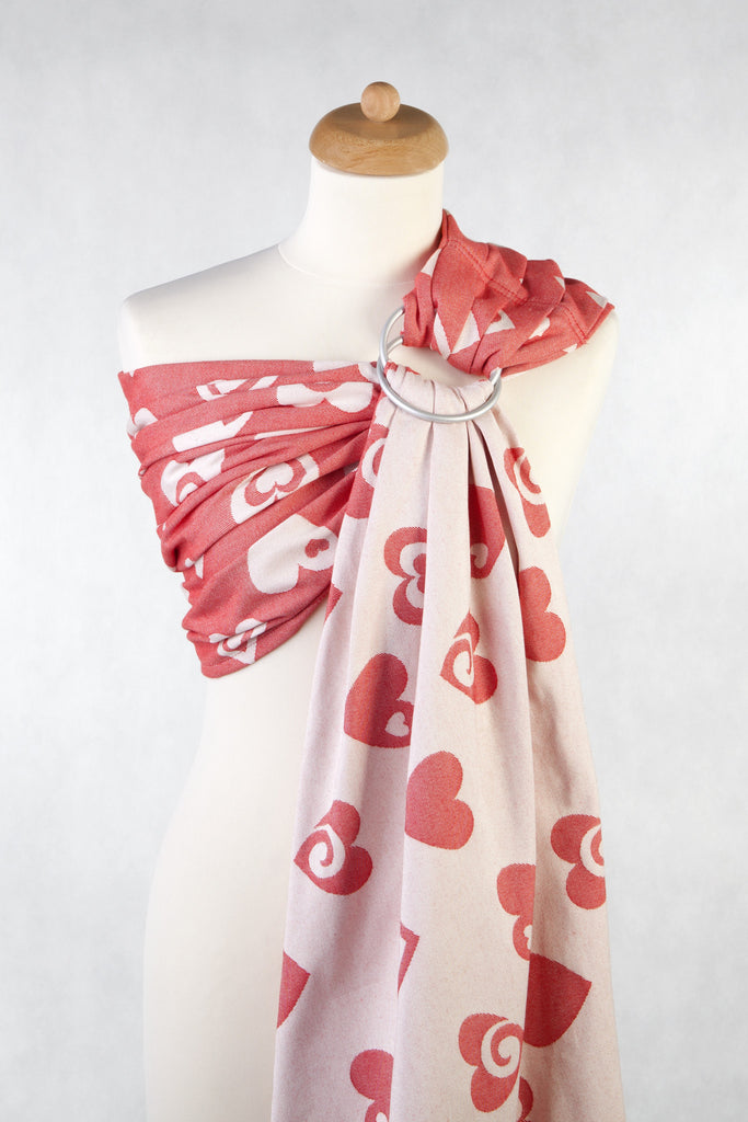 Lenny Lamb Sweetheart Coral and Creme Ring Sling (cotton)