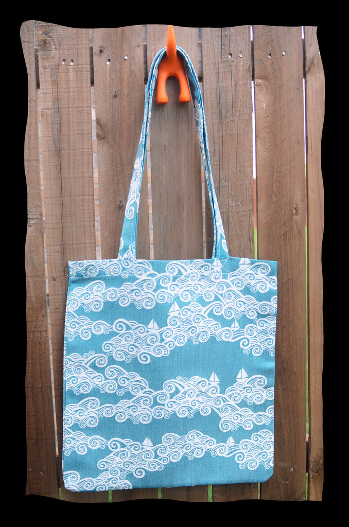 Sail Away with Me - Mediterranean TOTE BAG Smitten with Wovens Made in America