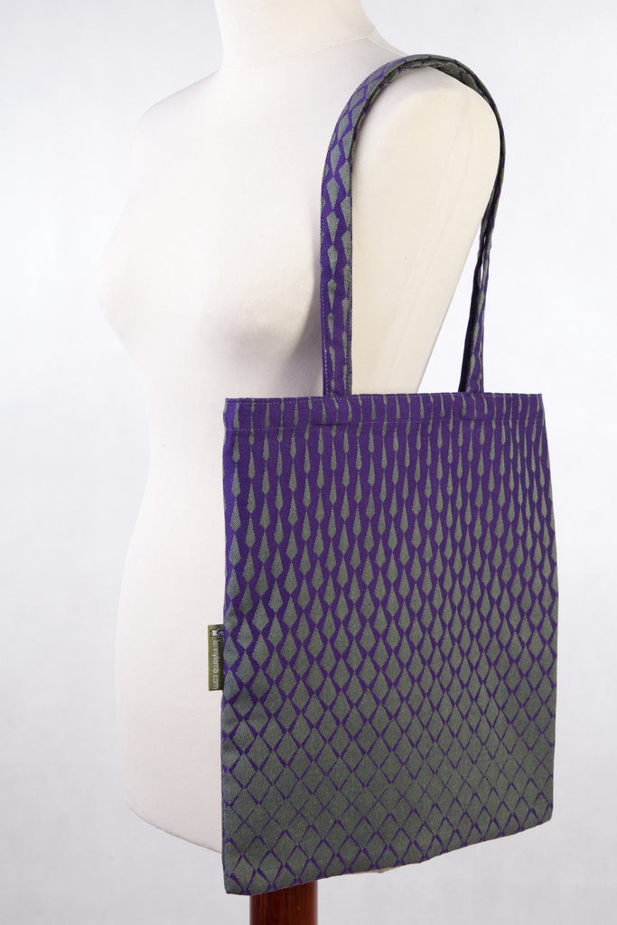 Lenny Lamb Shopping bag Lenny Icicles Purple and Green