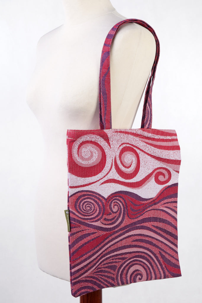 Lenny Lamb Shopping bag Waves Maroon