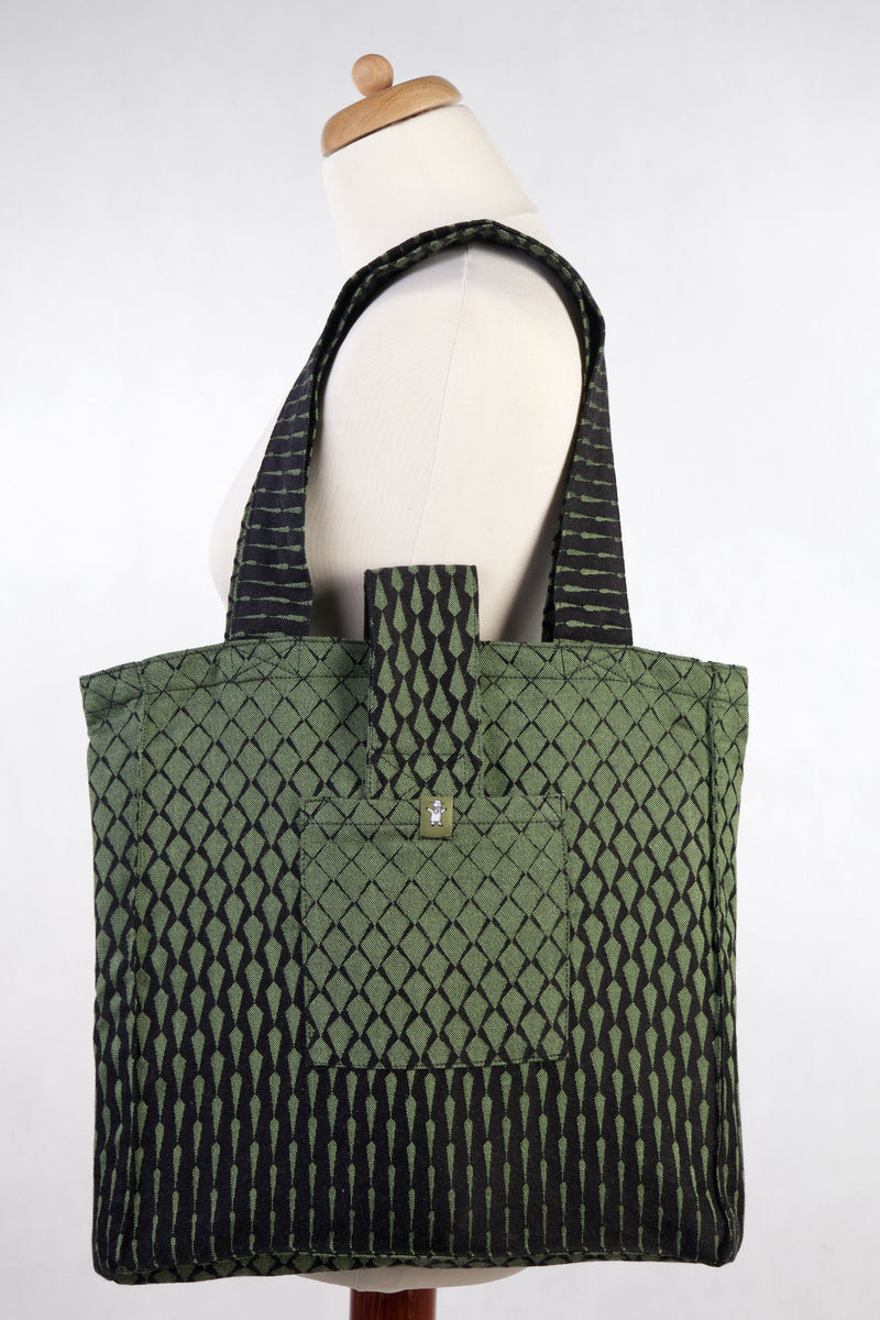 Lenny Lamb Shoulder bag Icicles Black and Green