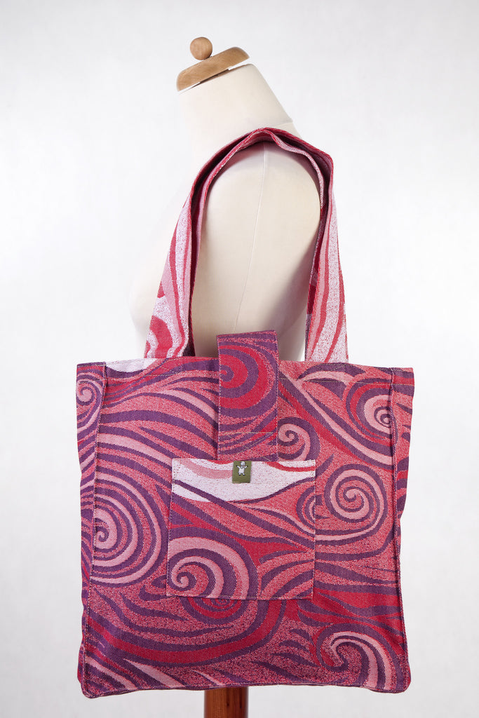 Lenny Lamb Shoulder bag Maroon Waves