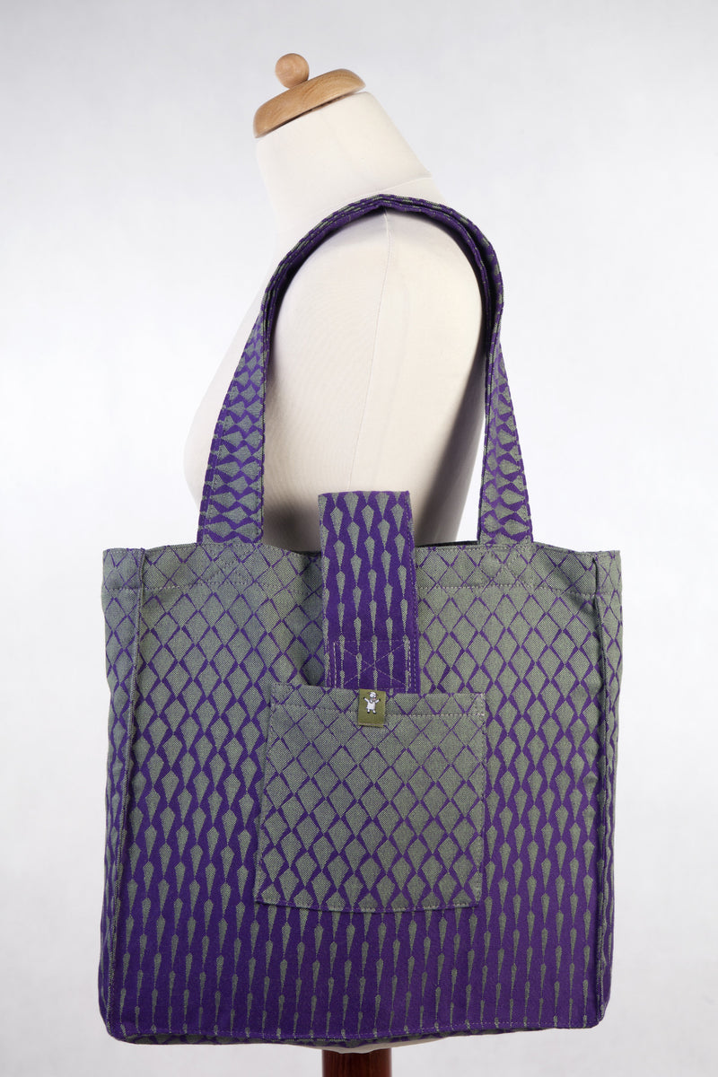 Lenny Lamb Icicles Purple and Green Shoulder Bag