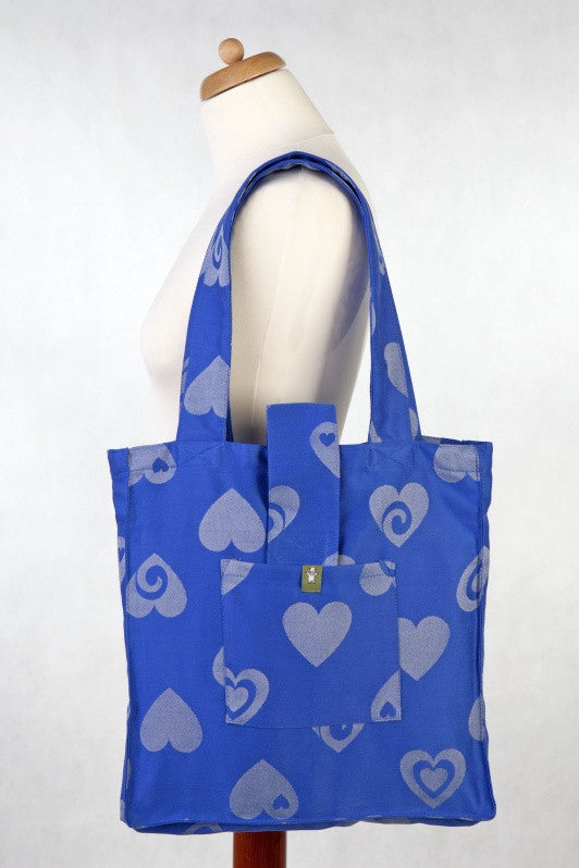 Lenny Lamb Shoulder bag Sweetheart Blue and Gray