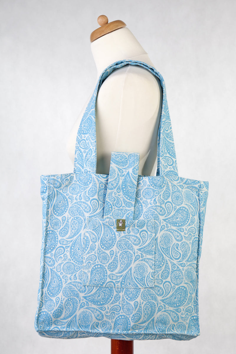 Lenny Lamb Paisley Turquoise and Cream Shoulder Bag