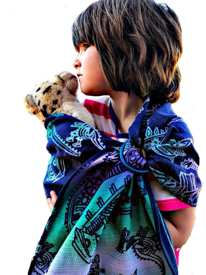Smitten with Wovens Land Before Cogs - Sprocket Lovey Sling Doll Carrier Doll ring sling
