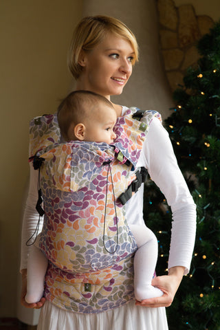 Lenny Lamb Ergonomic Full Buckle Carrier Colors of Life (cotton)