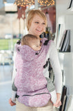 Lenny Lamb Ergonomic Full Buckle Carrier PAISLEY Purple (cotton)