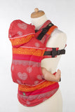 Lenny Lamb Ergonomic Full Buckle Carrier Cherry LACE REVERSE (cotton)