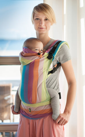 Lenny Lamb Ergonomic Full Buckle Carrier Coral Reef (cotton)