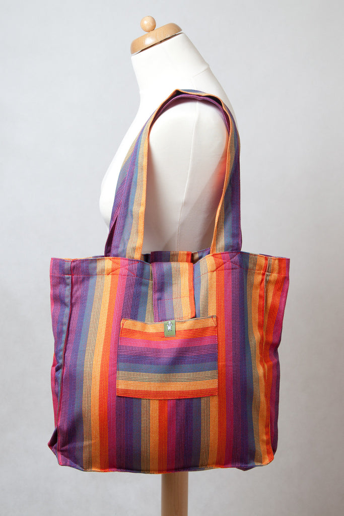 Lenny Lamb Shoulder bag SUNSET RAINBOW