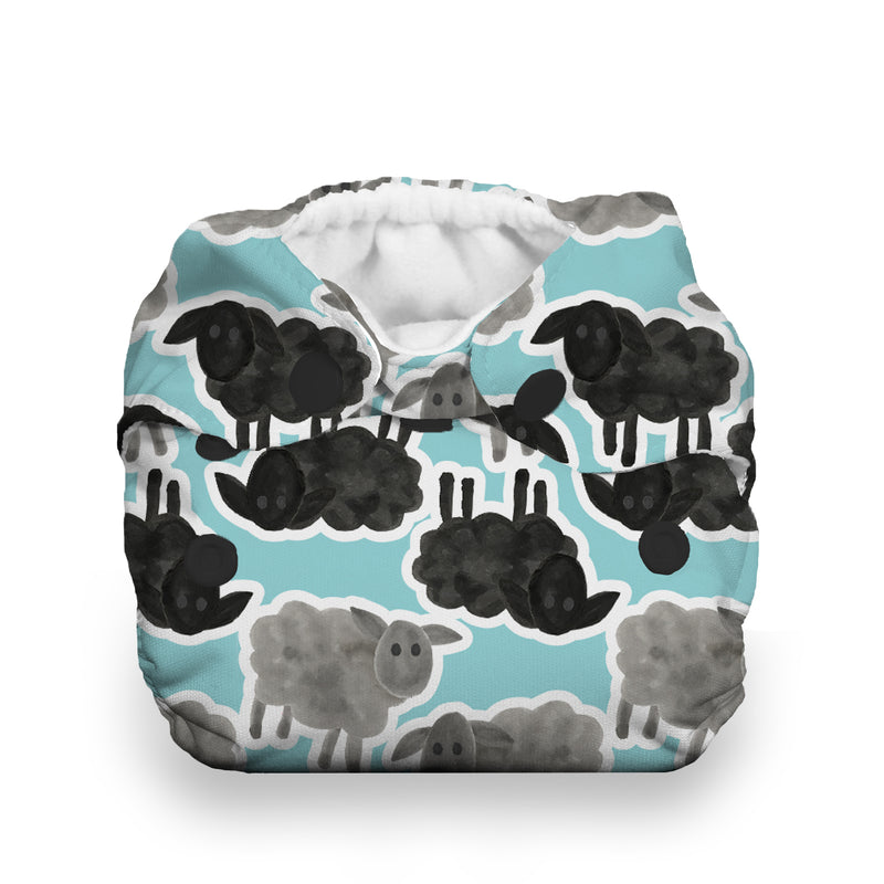 Thirsties Natural Newborn All in One Cloth Diaper Counting Sheep