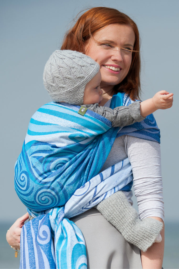Lenny Lamb Blue Waves Wrap (cotton)