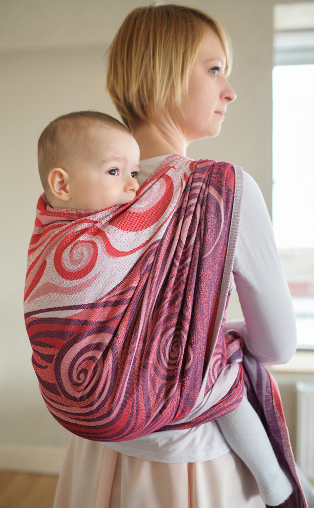 Lenny Lamb Maroon Waves Wrap (cotton)