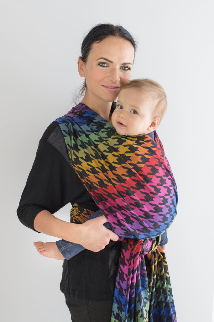 Lenny Lamb Pepitka Rainbow Wrap (cotton)