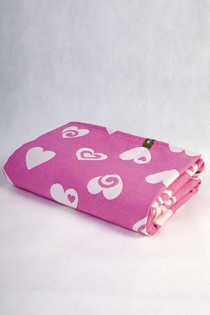 Lenny Lamb Sweetheart Pink and Cream Wrap (cotton)