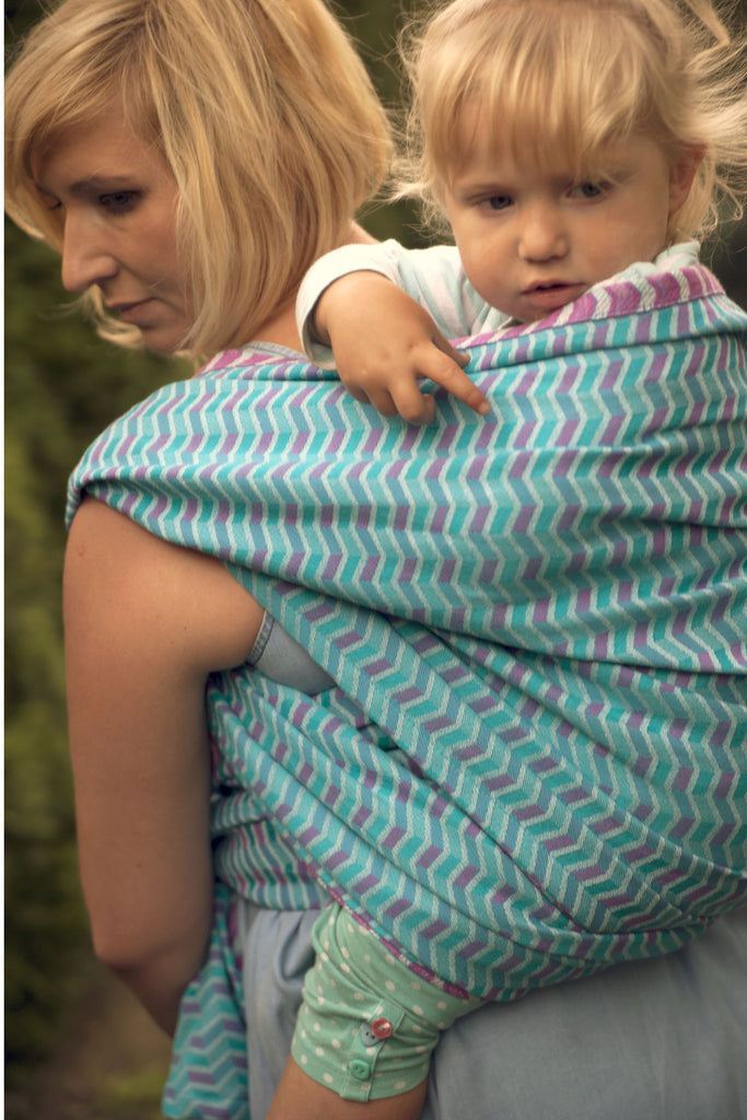 Lenny Lamb Zig Zag Pink Wrap (cotton)