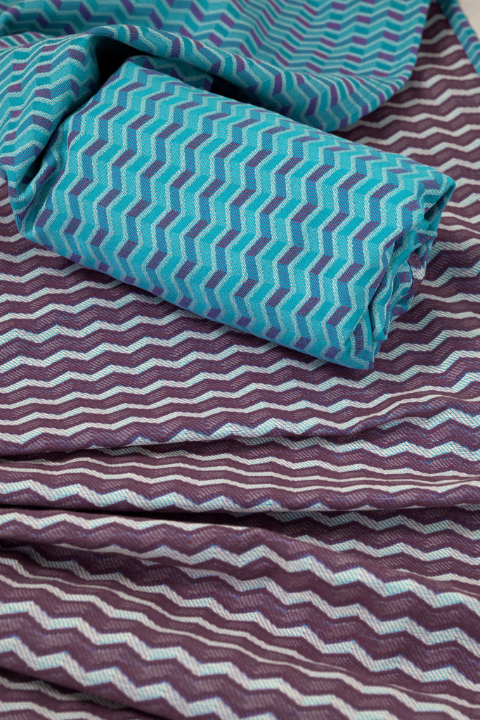 Lenny Lamb Zig Zag Purple Wrap (cotton)