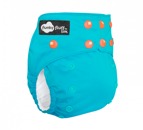 Funky Fluff LUX Bamboo 3 in 1 Cloth Diaper aloha