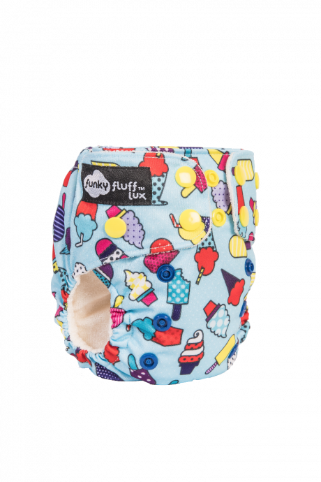 Funky Fluff Newborn 3 in 1 LUX cloth diaper Ice ice baby