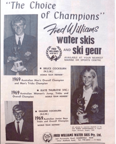 Various Australian Champions Who Used Fred Williams Skis