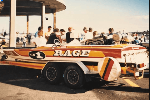 Fred Williams Rage IV Race Boat in Colour