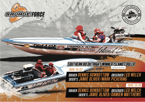 Island Cooler Banner Southern 80 Savage Force Water Ski Race Merchandise