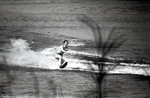 Prince Charles Water Skiing on a Fred Williams Ski