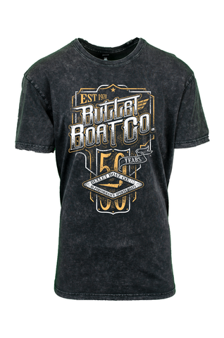 Bullet Boats 50th Anniversary Vintage Premium Stone Wash Tee