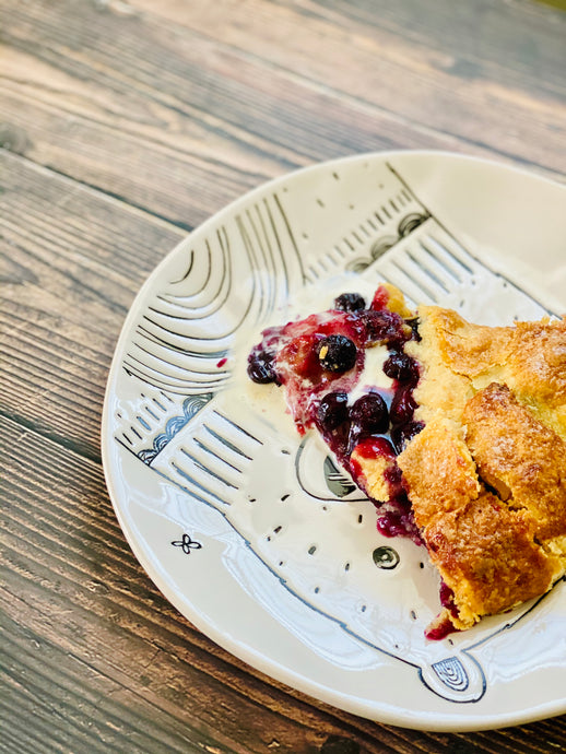 Easy Strawberry and Blueberry Galette