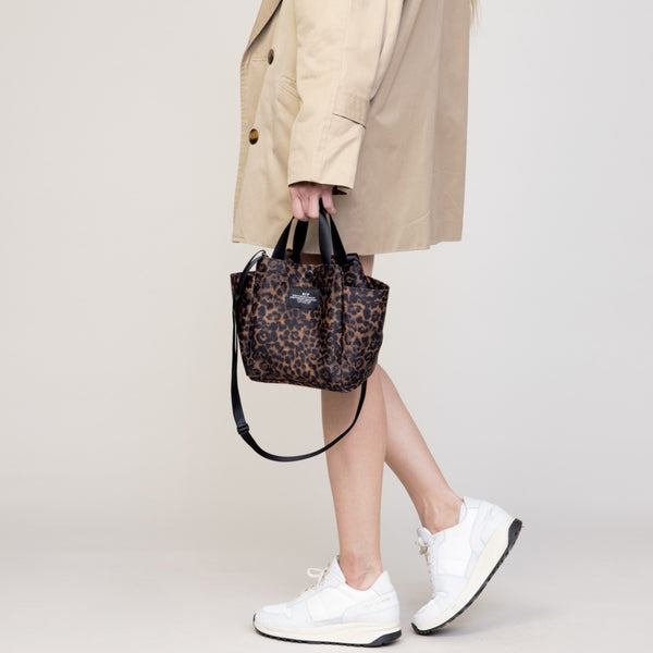 Small Side Pocket Tote - Leopard