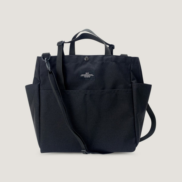 CARRY-ALL BEACH BAG - BLACK
